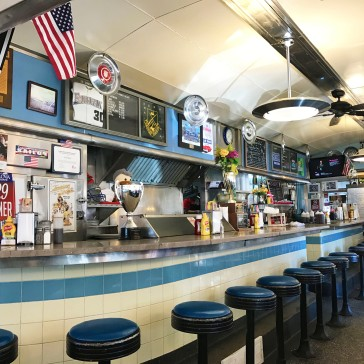 The diner interior